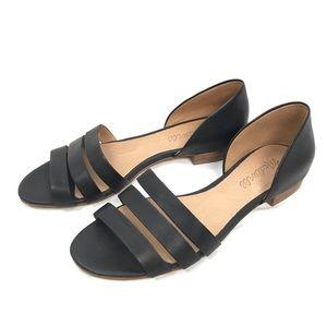 Madewell Leila black leather sandal size 6